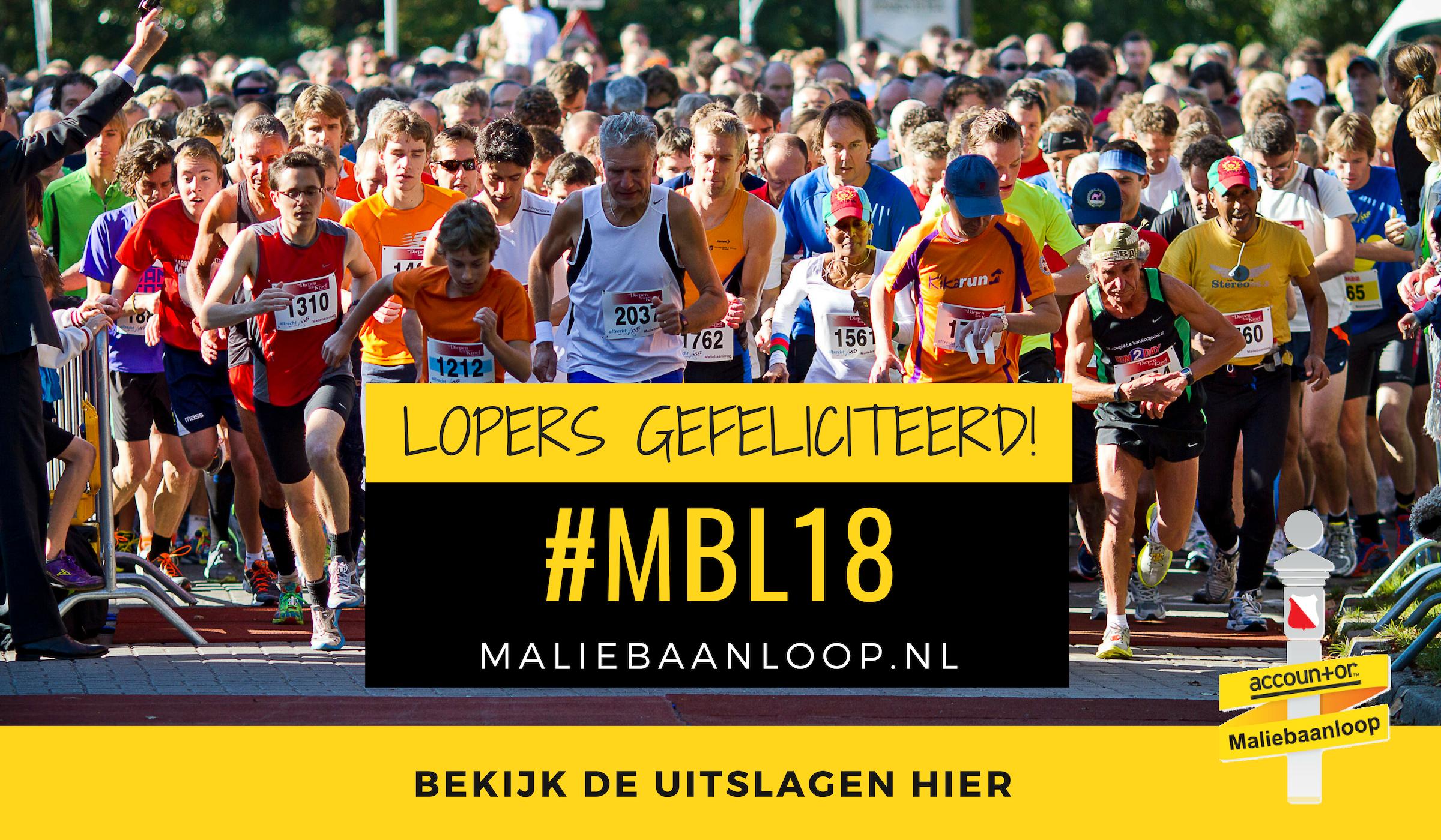 Uitslagen 34e Accountor Maliebaanloop 2018