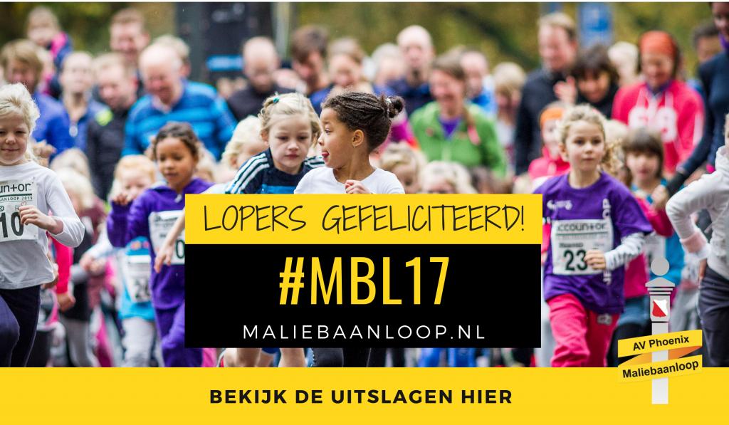 Uitslagen 33e Accountor Maliebaanloop 2017