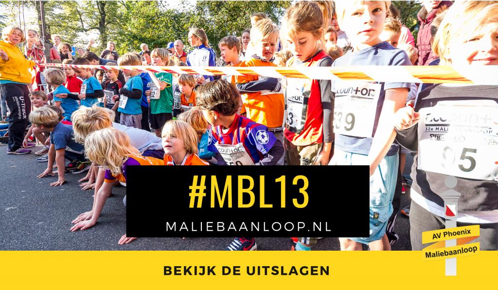 Uitslagen 29ste Maliebaanloop 2013