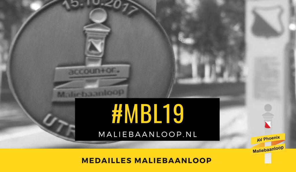 medaille maliebaanloop 2017