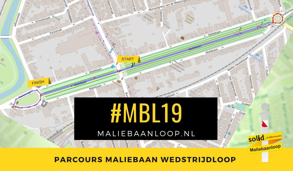 Parcours 10 KM Wedstrijdloop Maliebaanloop
