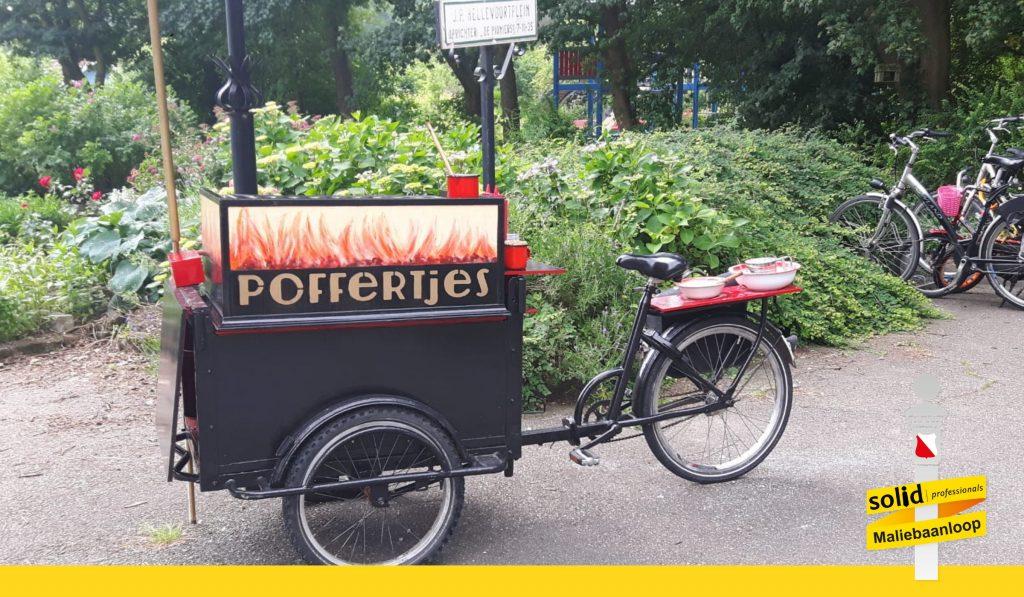 poffertjes tijdens de maliebaanloop - de fiets